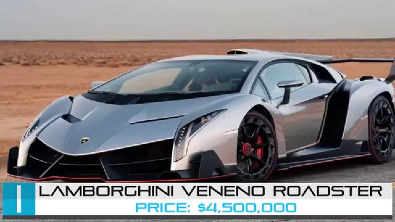 Beautiful Lamborghini Veneno Roadster | TOP 5 Most Expensive Cars In The World 2015    YouTube