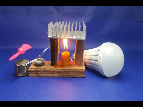 Free energy generator - Light Bulbs with fan -Science fair projects easy at home 2018