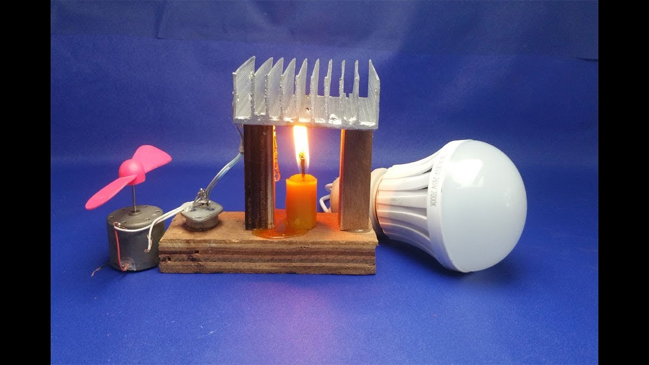 Free Energy Generator - Light Bulbs With Fan