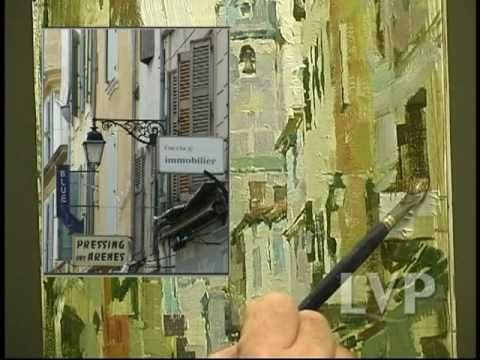 John Michael Carter paints European Street .