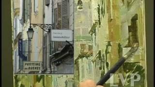 John Michael Carter paints European Street Scene.