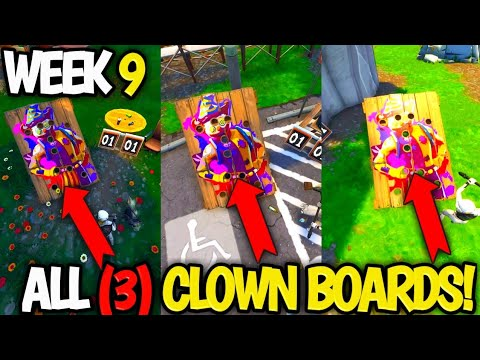 Get A Score Of 10 Or More On Different Carnival Clown Boards All 3