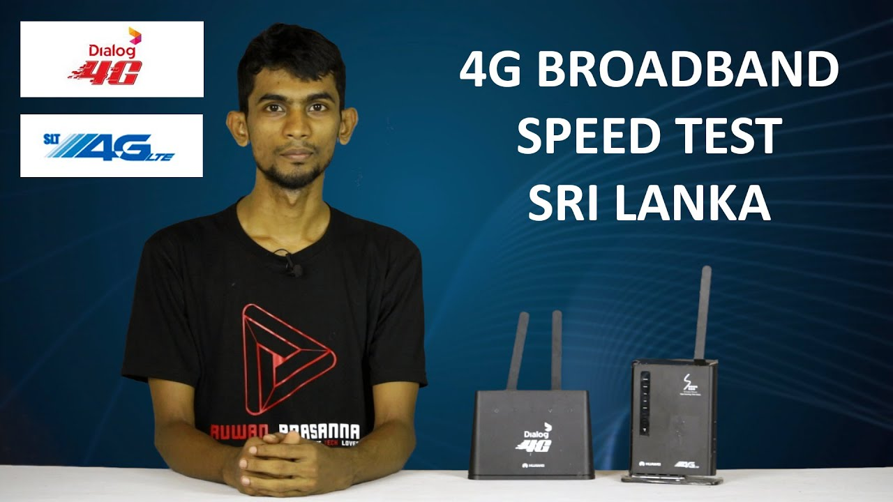 Dialog Slt 4g Lte Broadband Sinhala Internet Speed Test In