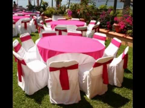 Simple Wedding reception table decorations - YouTube