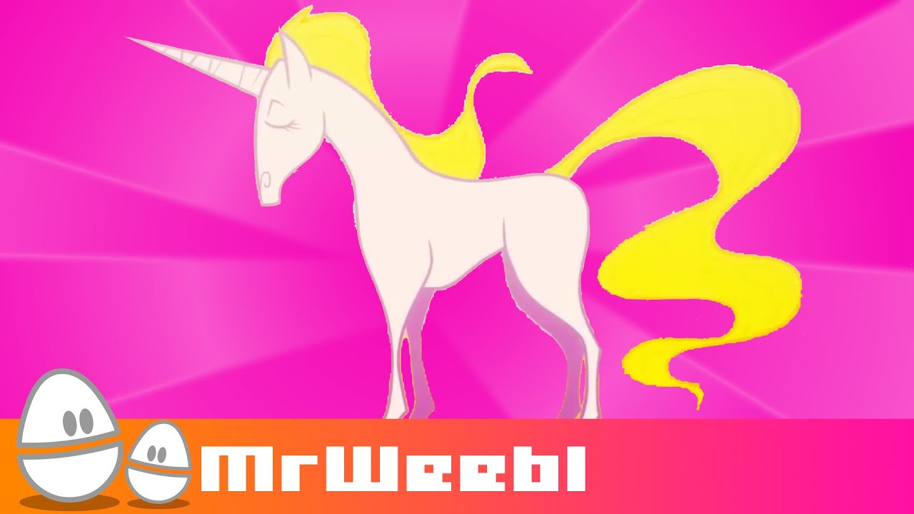 Unicorn : animated music video : MrWeebl - YouTube