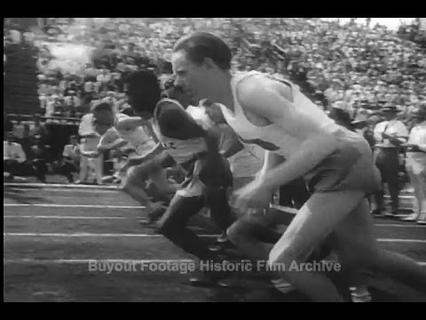 Historic Archival Stock Footage - Swedish Champion tops U.S. Stars in Athletic Meet