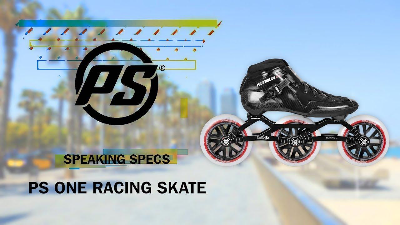 0614f57e9c1 Powerslide One racing skates - Powerslide Speaking Specs - YouTube