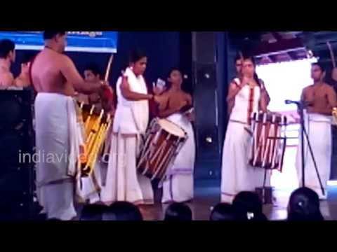 Thayambaka performance by sisters' - Shobitha Krishna Das and Rahita Krishna Das
