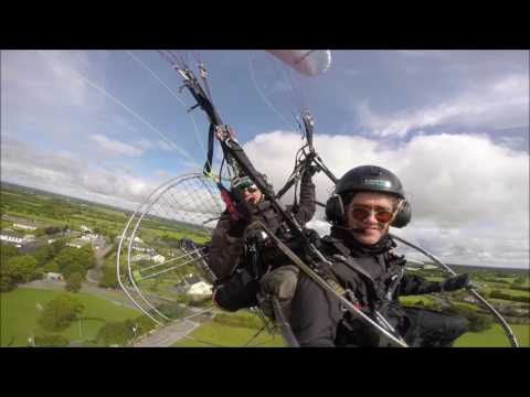 Peter flying to Caher Castle