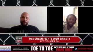 Frank Trigg Interviews UFC 210's Des Green