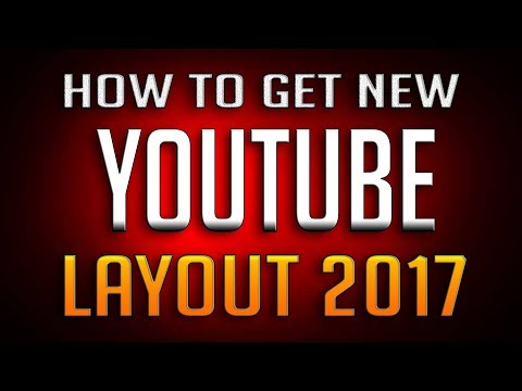 how to get the new youtube layout
