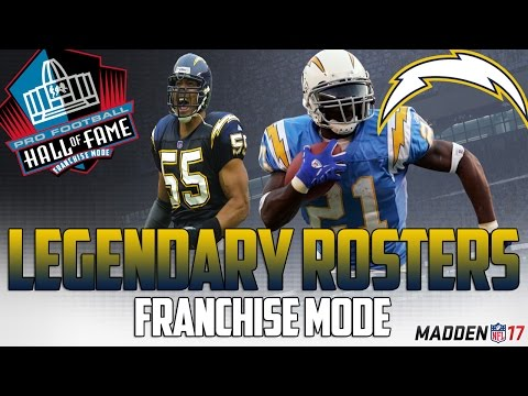 Legendary San Diego Chargers Roster | Madden 17 Connected Franchise | Junior Seau + LT!