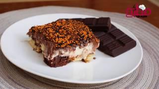 حلا كيك الماربل بالكريمة والشوكولاتة المميز واللذيذ