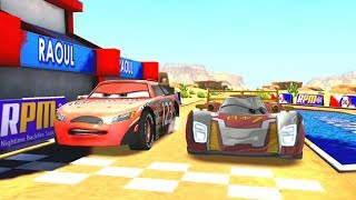 Todd Marcus Vs Mecha Mod & Francesco Bernoulli Disney Cars Racing Game Play