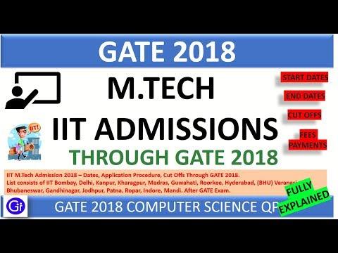 IIT M.Tech Admissions 2018 – Dates, Application Procedure, Cut Offs for IIT & IISc