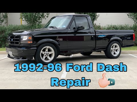 1992-96 Ford F-150 Dash Shaking Repair. How to repair broken dash on 92-96 ford Bronco.