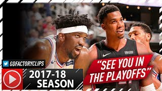 Joel Embiid vs Hassan Whiteside BIG Duel Highlights (2017.10.13) Heat vs Sixers - CRAZY BEEF!