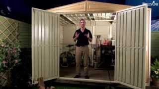 Billyoh Retford 10' Fronted Woodgrain Plastic Shed