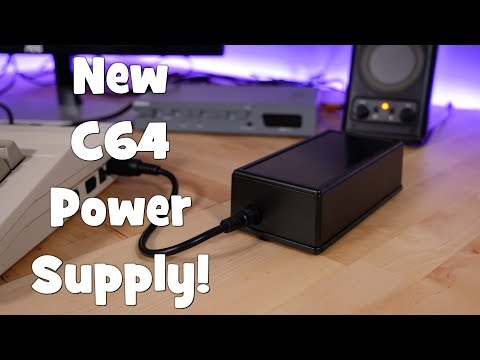 New Commodore 64 power supply by Retro Game Supply!