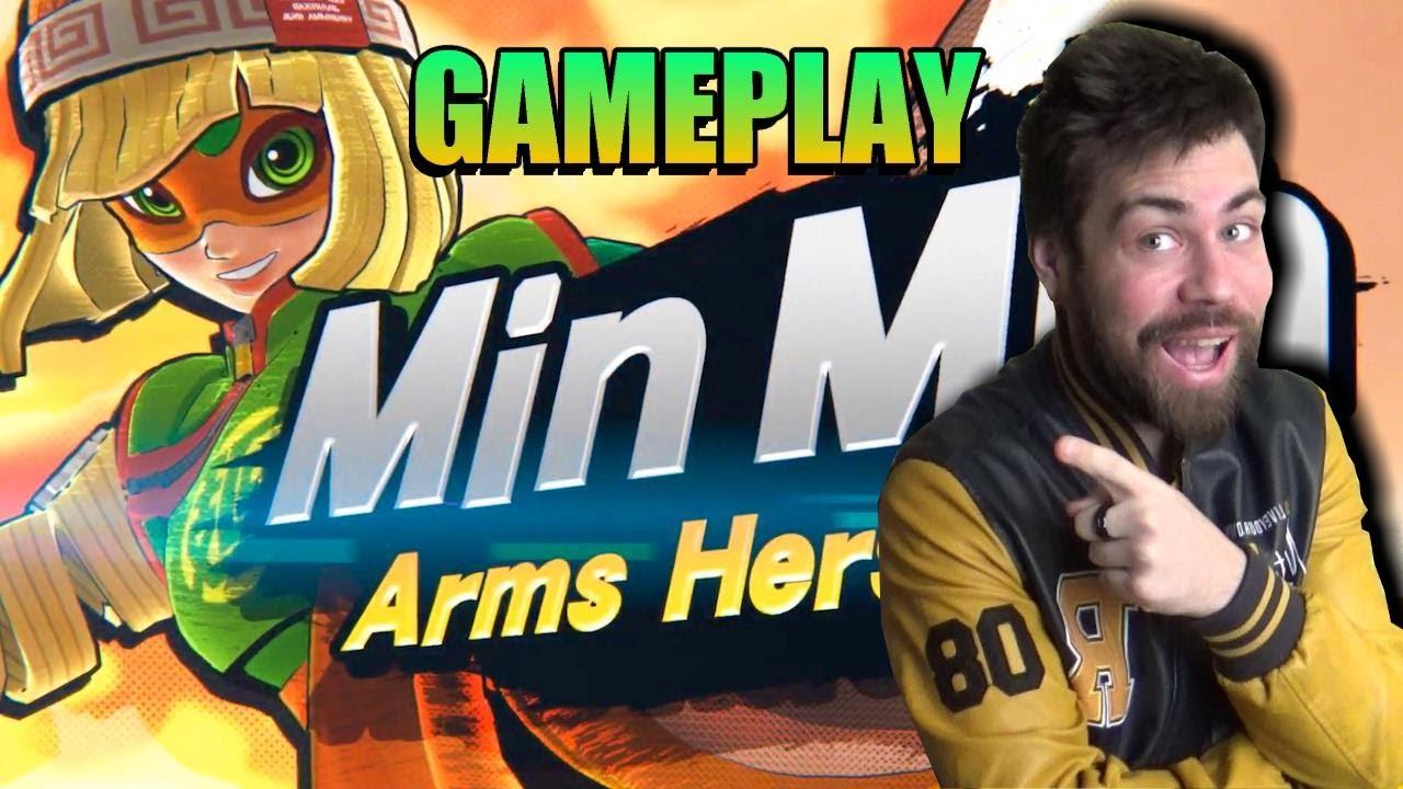 Probamos a Min Min en Smash Bros Ultimate    VAYA DELICIA DE PERSONAJE   Un gran acierto