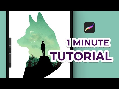 How To Make An Easy Procreate Illustration (1 Minute Tutorial For Beginners)