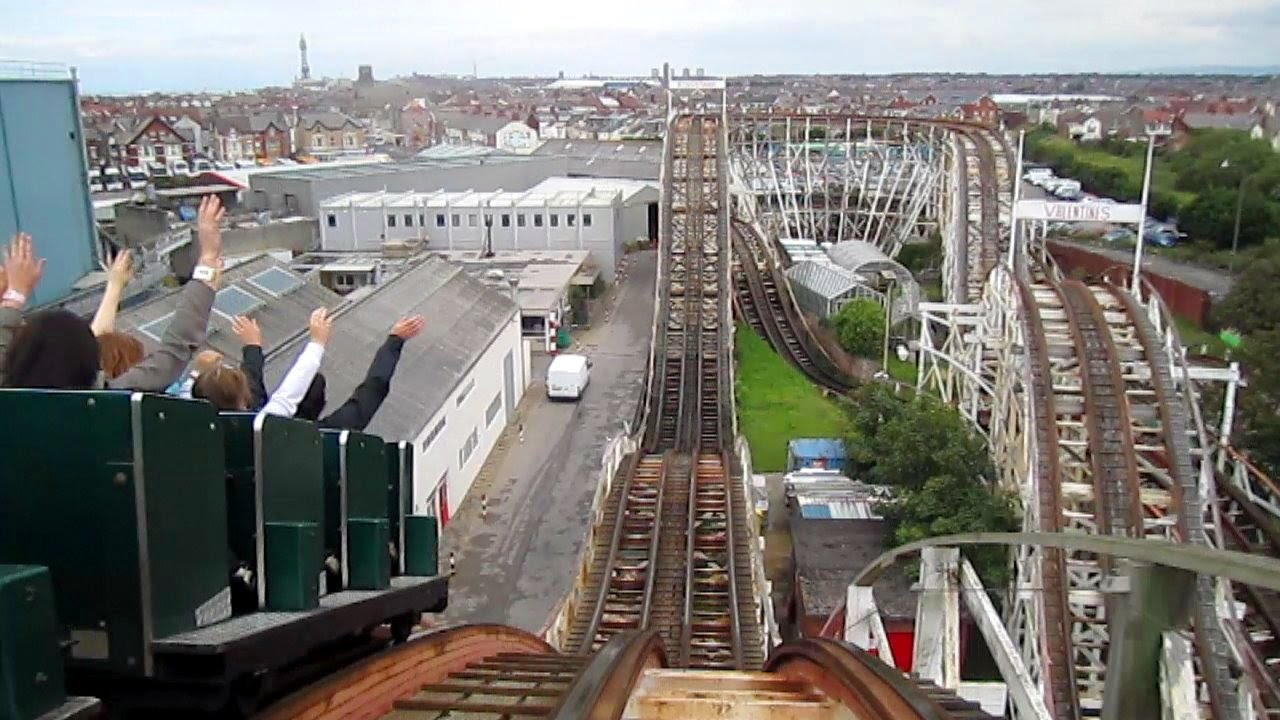 Grand National Front Seat on-ride HD POV Pleasure Beach, Blackpool - YouTube