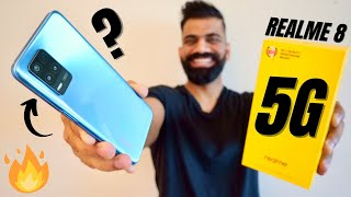 Realme 8 5G Unboxing & First Look - Cheapest 5G Phone | 7nm | 5000mAh | 90Hz🔥🔥🔥