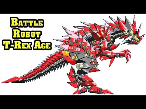 Battle Robot T-Rex Age Game | Eftsei Gaming