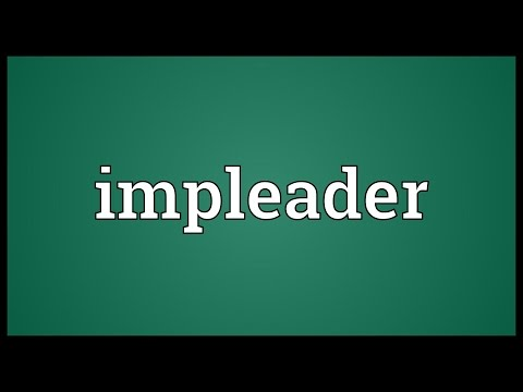 Header of impleader