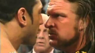 WWE Raw (2005) - Triple H & Batista Face-Off Segment with Eric Bischoff - 3/28/05