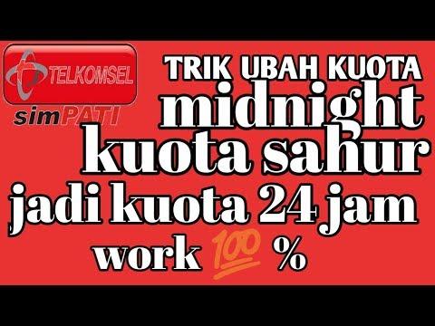 trik mengubah kuota sahur atau midnight menjadi 24 jam work 100%