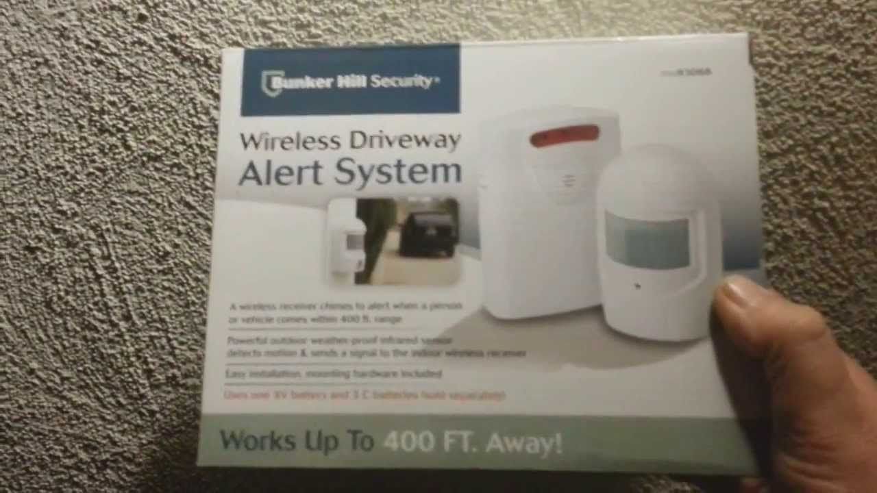bunker hill security wireless security alert system Bunker Hill Security driveway motion sensor 93068. Crime prevention ...