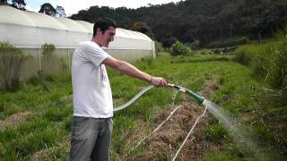 Farmstay in Brazil - Yvan from Switzerland being helpful