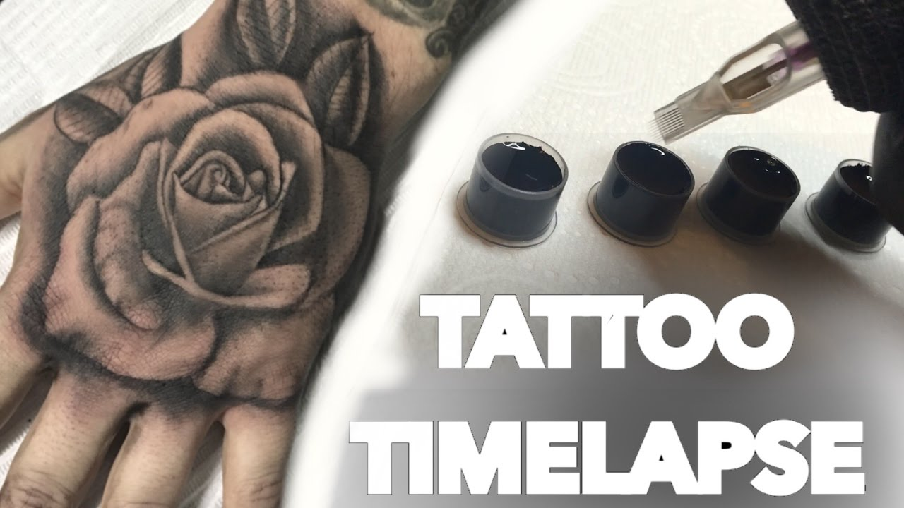 494014744 TATTOO TIME LAPSE / HAND ROSE / CHRISSY LEE - YouTube