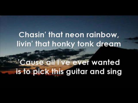 Chasin' That Neon Rainbow by Alan Jackson | LYRICS