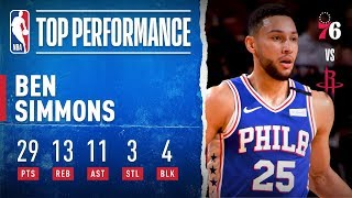 Ben Simmons Records 25th Career Triple-Double