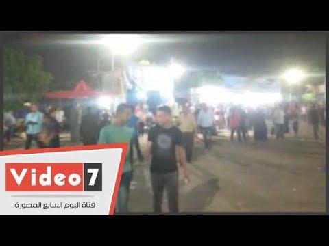 توافد أقباط ومسلمين على دير العذراء مريم ببنى سويف فى الليلة الختامية