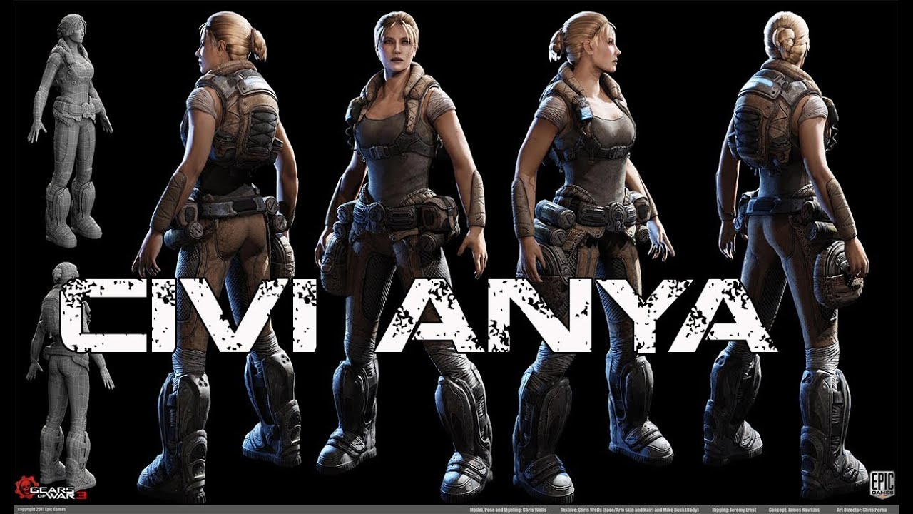 gears of war 3 anya naked