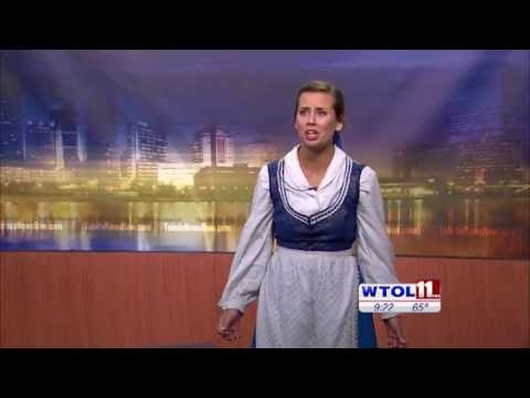 """3B Productions on WTOL 11: Katie Hotz sings """"Home"""" from Beauty and the Beast"""