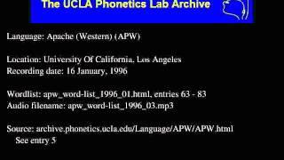Western Apache audio: apw_word-list_1996_03