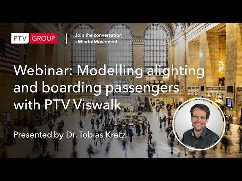Webinar: Modelling alighting and boarding passengers with PTV Viswalk
