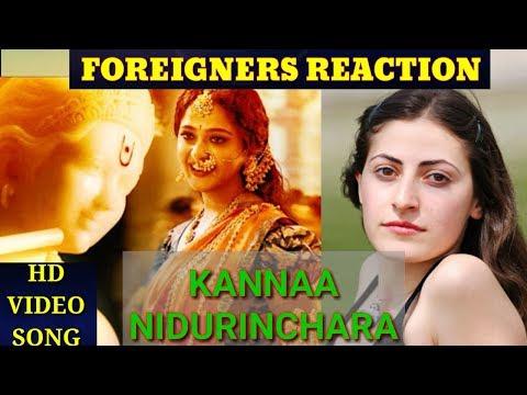 Foreigners Reaction on KANNAA NIDURINCHARA - Full Video Song of BAHUBALI 2 :The Conclusion