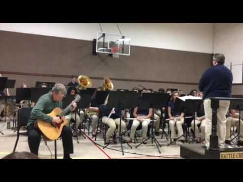 Battle Creek Academy (BCA) Band features Steve Martin playing Classical Gas