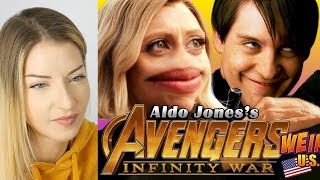 AVENGERS INFINITY WAR Weird Trailer REACTION