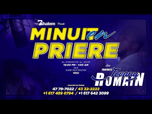 Minuit Priere  Radio Tele Shalom en direct   18 Octobre 2021