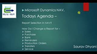 How To  Use Report Selection in Microsoft Dynamics NAV