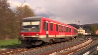 628 der Kurhessenbahn auf der schönen Oberen Lahntalbahn Marburg - Erndtebrück