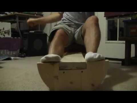 Do-it-yourself Surf Ski, K1, or Racing Kayak Balance Trainer, home made