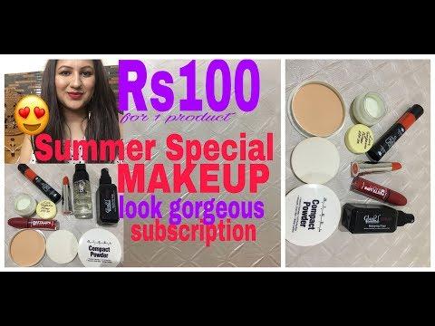 Look Gorgeous April Subscription/ Affordable Summer Makeup/ सिर्फ 100 रुपये में 1 मेकअप प्रोडक्ट