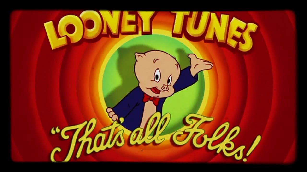 new porky pig says thats all folks with his original